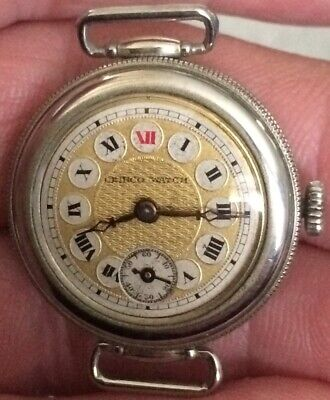 "VINTAGE 1920s Trench Style  ""CIEBCO WATCH "" 3 PIECE SCREW CASE Stirrup Lugs"
