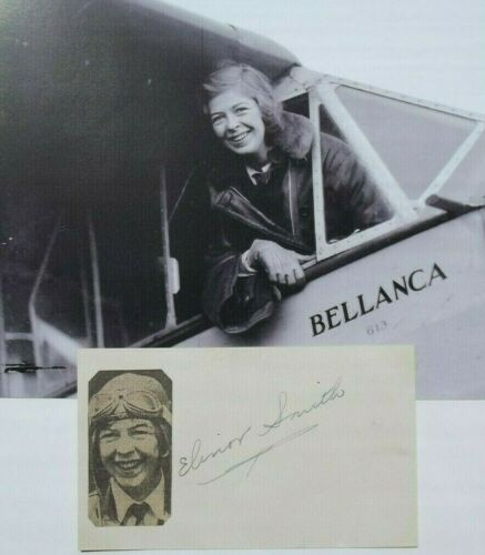 Elinor Smith Aviation Pioneer Record Holder Youngest Pilot Signed Autograph Rare