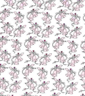 Wedding Planner pink bells Marcus Brothers fabric  fabric