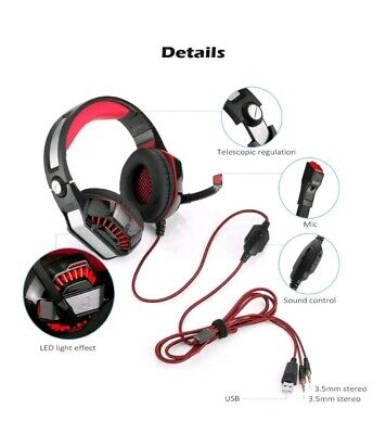 Beexcellent GM-2 Surround Sound Gaming Headset VR Computer Game PS4 Xbox iPad