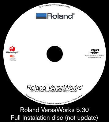 Roland Versaworks 5 30 Full Install   Roland Webinar Tutorial   2 Discs
