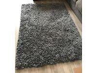 Next large grey shaggy rug charcoal