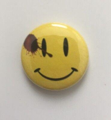 "Watchmen Button Pin 1"" Smiley Face Badge DC Doomsday Clock Flash 22 Sexy - Flashing Smiley"