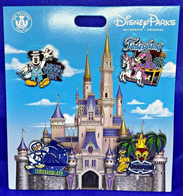Disney Parks 4 pin set WDW MAGIC KINGDOM - booster pack - NEW