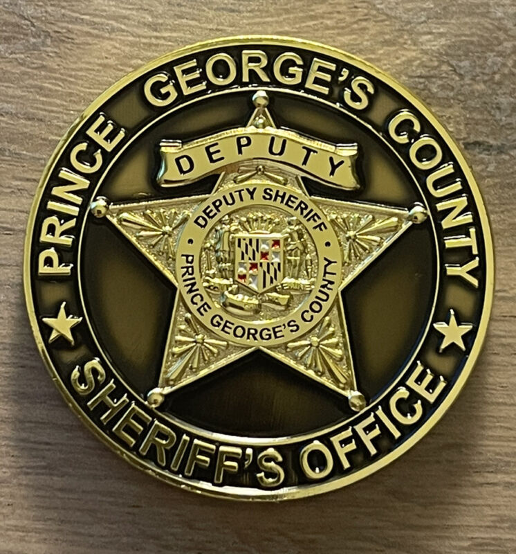Prince George's County Maryland Office of Sheriff Circuit Court Challenge Coin