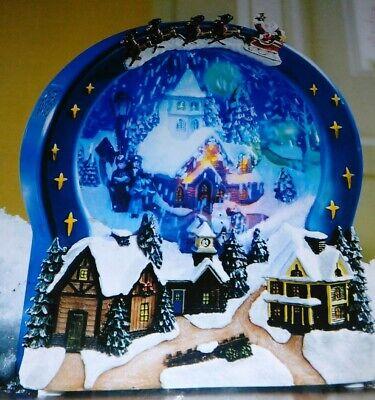 Huge Snow Globe--Snowy Church Scene Musical Holiday Living Christmas Village LED