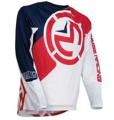 Camiseta de Moto Cross Niño Moose Niño TALLA S Azul Rojo Blanco