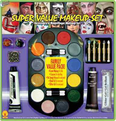 Super Value Family Makeup Kit Face Paint Fancy Dress Halloween Costume Accessory