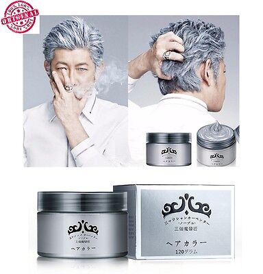 Instant Washable Hair Color Wax Gray 120ml - As Seen On TV