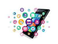 Mobile App Development, Website design, Online Marketing