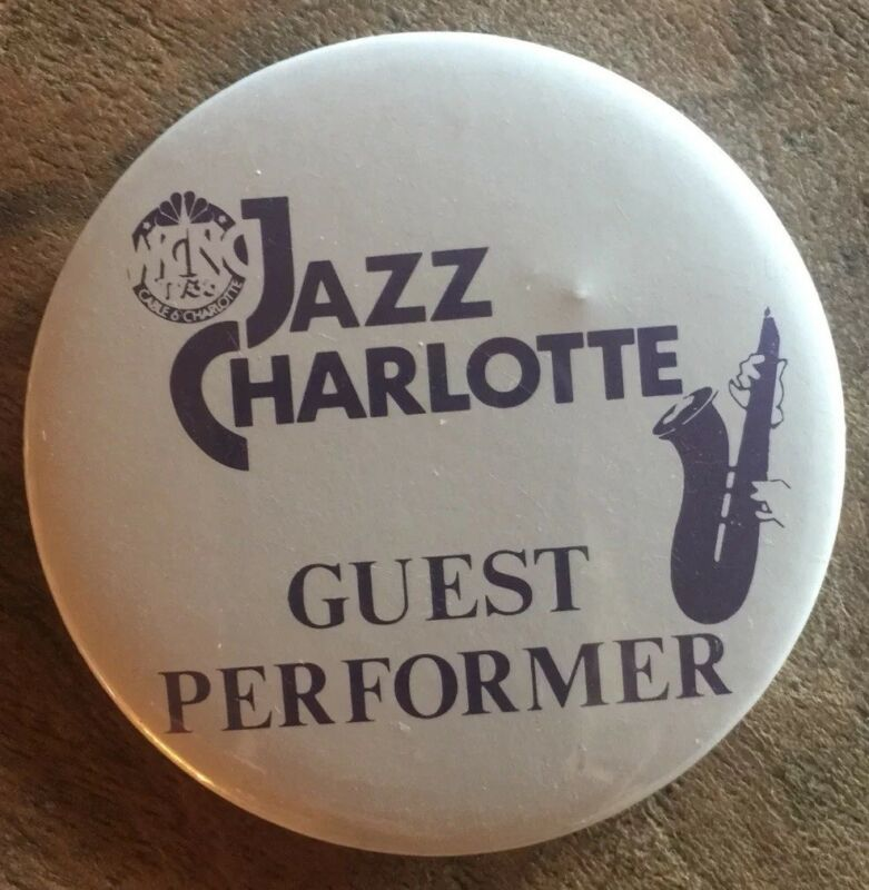 Vintage WCNC TV 36  Charlotte, NC Jazz Guest Performer Button Pin 90s Jazz Pin