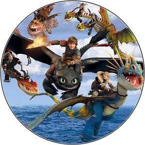 tortenaufleger dragons w chter ritter von berk dvd deko neu oblate tortenbild cd ebay. Black Bedroom Furniture Sets. Home Design Ideas