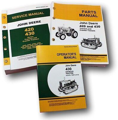 Service Manual Set For John Deere 430 430c Crawler Tractor Parts Operators Dozer