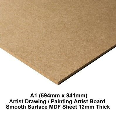 A1 MDF Drawing Board Sketching Smooth Surface Artist 12mm Thick (594mm x 841mm)