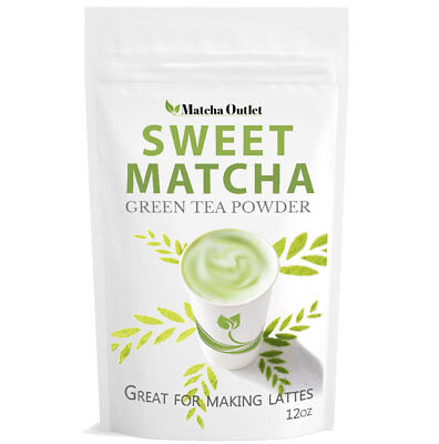 Matcha Outlet Sweet Green Tea Powder from Japan (12oz) Free USA Shipping