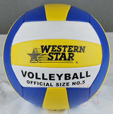 Volleyball Ball Soft Official Olympic Indoor Outdoor Size 5 Blue Yellow NEW