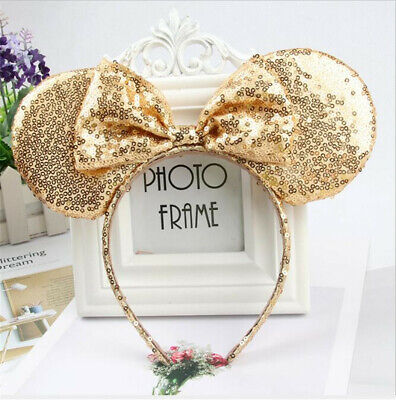 Adults Girls Children Mickey Minnie Mouse Ears headband Party Costume Hair Band](Minnie Mouse Costume Adults)