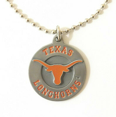 TEXAS LONGHORNS LARGE PENDANT NECKLACE 24249 new college sports jewelry