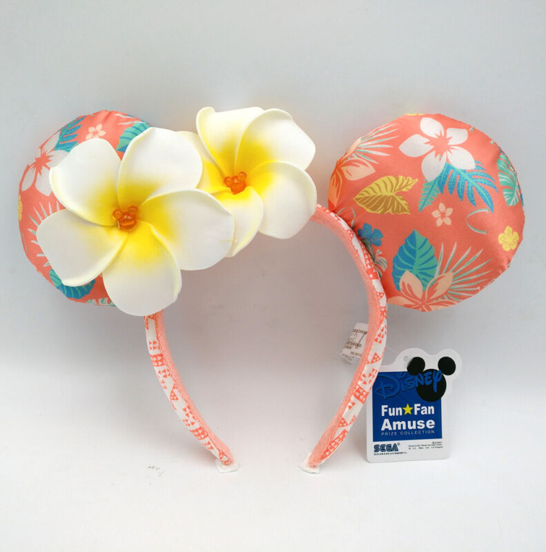 Disneyland Aulani Hawaii Disney Parks Minnie Ears Exclusive Plumeria Headband