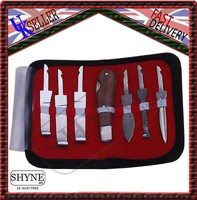 Professional Farrier HOOF KNIVES Set Kit VETERINARY Enquine Horse S STEEL CE