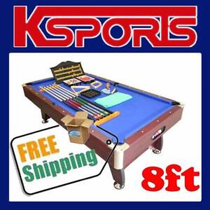PUB SIZE POOL TABLE 8FT SNOOKER BILLIARD TABLE BLUE Somerton Hume Area Preview