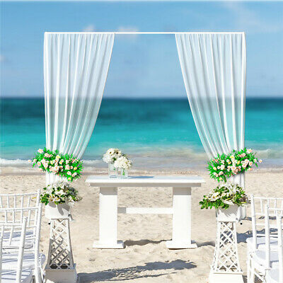 Metal Wedding Arch Frame 3x3M Backdrop Decor Free Standing Event Venue Gate UK