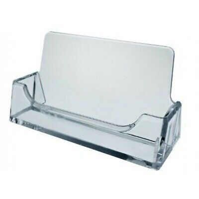 Plastic Business Card Holder Display 10 Pack Clear