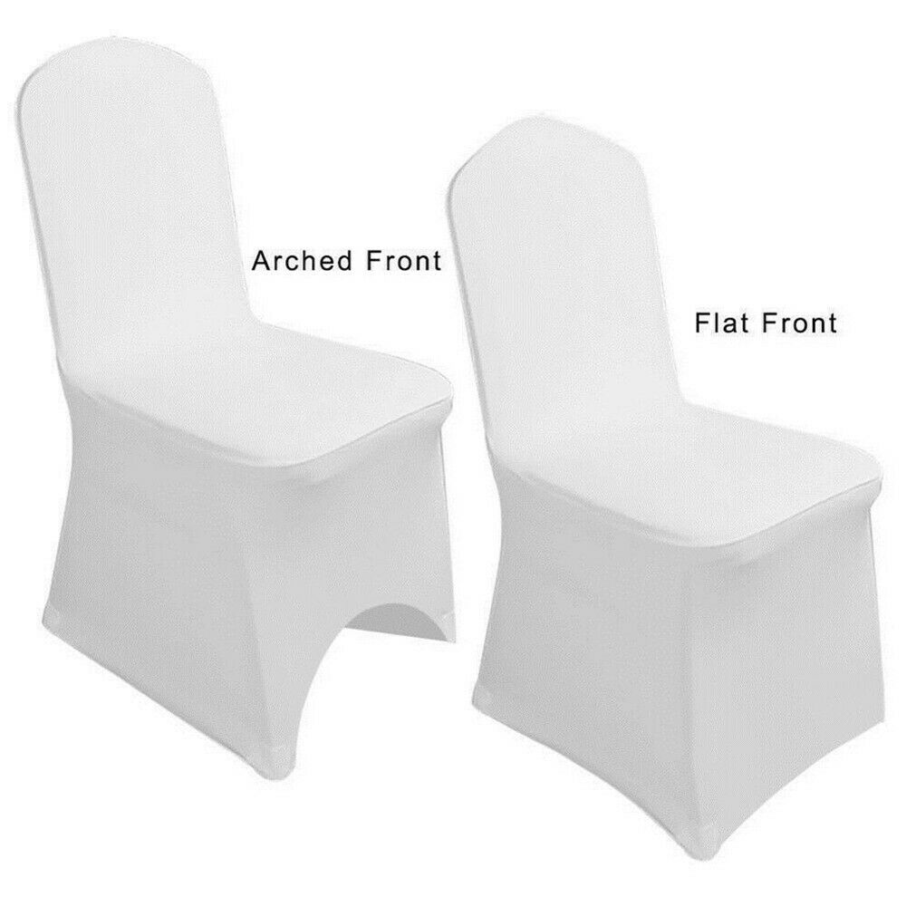 100pcs White Chair Covers Spandex Lycra Chair Cover For