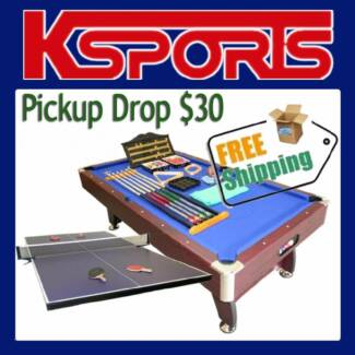PUB SIZE POOL TABLE 8FT SNOOKER BILLIARD TABLE WITH TABLE TENNIS Somerton Hume Area Preview