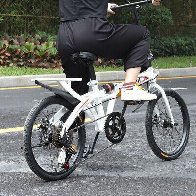 20 inch Classic Full Suspension Folding Bike Cycle Portable Variable Speed Bike