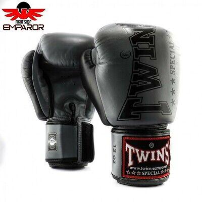 Twins Special Boxhandschuhe BGVL8 Grau MMA Muay Thai Boxen Leder 10 12 14 16