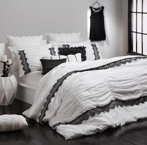 Lara White Double Bed Quilt Cover Set - Logan and Mason Platinum Collection