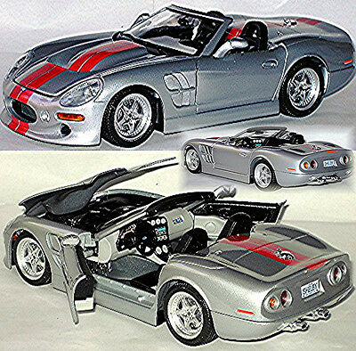 Shelby Series 1 1998-2005 Silver Metallic 1:18 Bburago