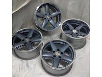 17 RH Alloy wheels * Deep Dish * Staggered * BMW * 5x120