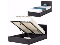Top Quality bed And Mattress .Ottoman bed frame with dual sided ORTHOPEDIC MATTRESS - BRAND NEW -