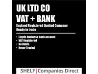 Lloyds Business Bank Account + Vat Registered Ltd Limited Company No Debts Ready to Trade