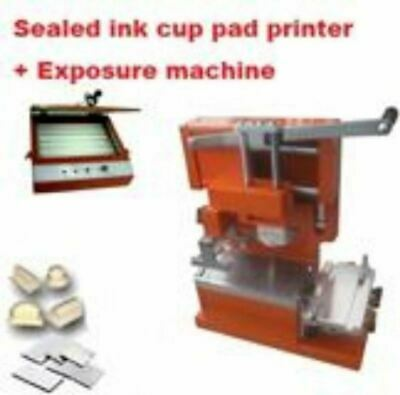 Manual Ink Cup Pad Printer Polymer Plates Making Package Business Start Kits