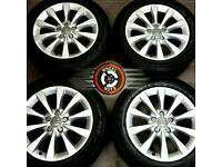 "17"" Genuine Audi alloys 5x112, perfect cond, excellent matching premium tyres."