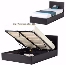 SINGLE FAUX LEATHER STORAGE BED MATTRESS OPTION AVAILABLE