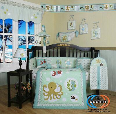 Baby Boutique New Sea World Animals 13PCS Nursery CRIB BEDDING SET