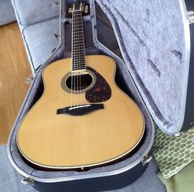 Yamaha LL6 ARE Electro Acoustic Guitar with hard case