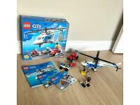 Lego city helicopter police chase magnet robbers 60243