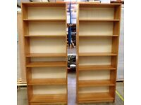 A Pair of Wood Bookshelves