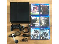 Sony PlayStation 4 500GB Console, 1 x controller + 6 games
