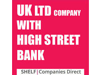 UK LTD COMPANY WITH HIGH STREET BANK ACCOUNT BARCLAYS BANKING LIMITED BIZ 2 YEARS OLD
