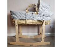 BRAND NEW clair de lune moses basket and rocking stand