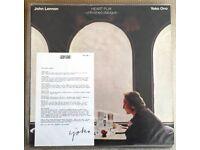 ORIGINAL UK John Lennon/ Yoko Ono - Heart Play - Unfinished Dialogue. LP