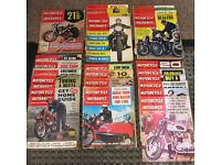 Motorcycle Scooter & Three-Wheeler Mechanics magazine 1959 - 1969, 23 motorcycle magazines