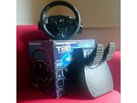PS3 PS4 Gaming Console THRUSTMASTER T80 Racing Steering Wheel and Peddles