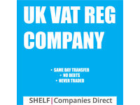 VAT REGISTERED SHELF COMPANY SAME DAY TRANSFER LTD COMPANY LIMITED COMPANY